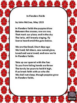 Le jour du Souvenir - Remembrance Day FREEBIE