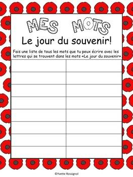 Le jour du souvenir (Comptine et activités pour la paix)  French Remembrance Day