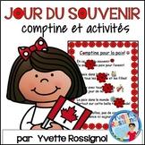 Comptine et activités pour Le jour du souvenir   French Remembrance Day