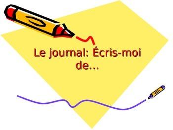 Le journal: Écris moi de…