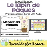 Le lapin de Paques French Easter Bunny Reader & timeline {