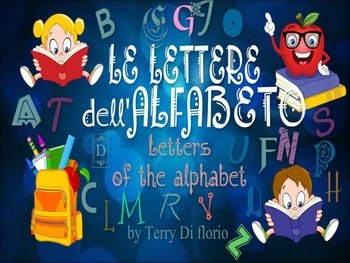 Le lettere dell'alfabeto -Letters of the alphabet