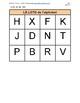 Le loto de l'alphabet (Bingo game in French, ready to cut)