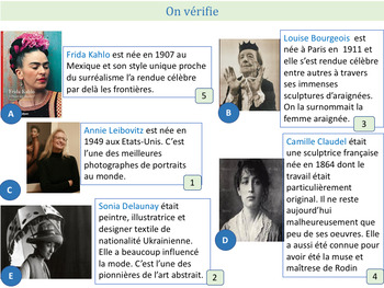 Le mois de la femme, women's month interactive PPT with videos and activities