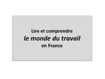 Le monde du travail, document authentique, French authentic cultural reading