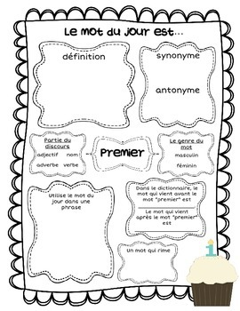 Le mot du jour - Septembre (Back to School - Word of the Day)