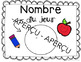 Le nombre du jour - French Daily Number Activity