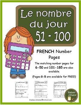 Le nombre du jour 51-100 (French Number of the Day Pages 51-100)