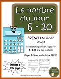 Le nombre du jour 6-20 (French Number of the Day Pages 6-20)