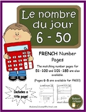 Le nombre du jour 6-50 (French Number of the Day Pages 6-50)