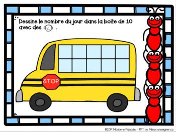 FRENCH number of the day / Le nombre du jour - nombres 1 à 10