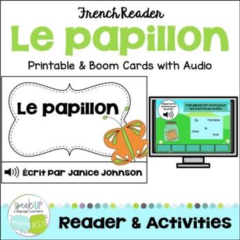 Le papillon French Emergent Reader Book {Dual language, im