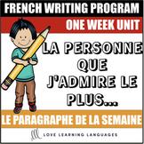 Le paragraphe de la semaine #11 - French primary writing program