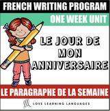 Le paragraphe de la semaine #12 - French primary writing program