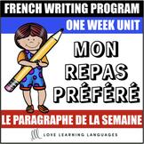 Le paragraphe de la semaine #13 - French primary writing program
