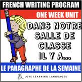 Le paragraphe de la semaine #19 - French primary writing program