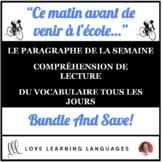 Le paragraphe de la semaine #2 - French primary reading an