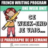 Le paragraphe de la semaine #2 - French primary writing program
