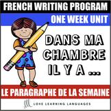 Le paragraphe de la semaine #3 - French primary writing program