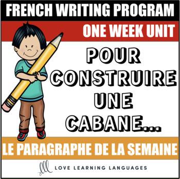Le paragraphe de la semaine #31 - French primary writing program