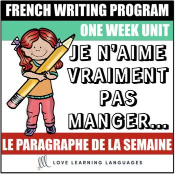 Le paragraphe de la semaine #32 - French primary writing program
