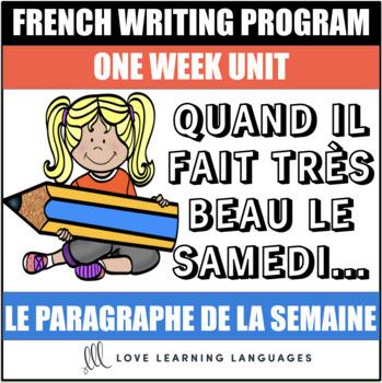 Le paragraphe de la semaine #35 - French primary writing program