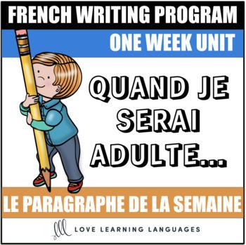 Le paragraphe de la semaine #36 - French primary writing program