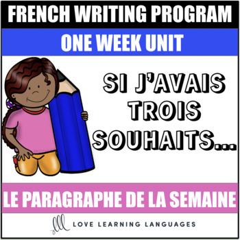 Le paragraphe de la semaine #40 - French primary writing program