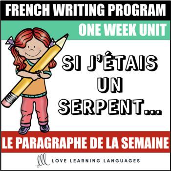 Le paragraphe de la semaine #42 - French primary writing program
