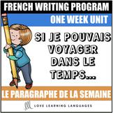 Le paragraphe de la semaine #47 - French primary writing program