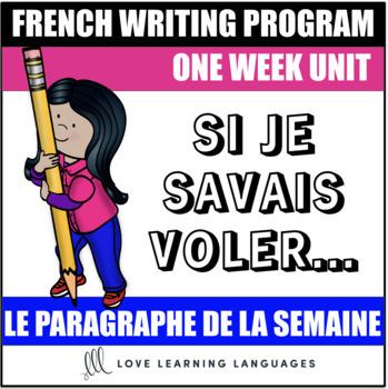 Le paragraphe de la semaine #48 - French primary writing program