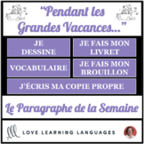Le paragraphe de la semaine #6 - French primary writing program