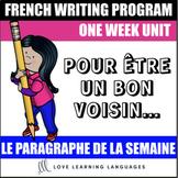 Le paragraphe de la semaine #7 - French primary writing program
