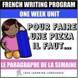 Le paragraphe de la semaine #9 - French primary writing program