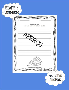 Le paragraphe de la semaine - Set 1 - 10 week French primary writing bundle