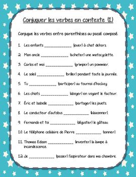 Le passé composé des verbes -er réguliers (Premier Groupe)