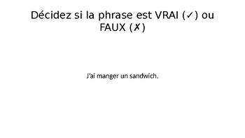 Le passé composé (with avoir) game