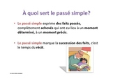 Le passé simple explications et exercices