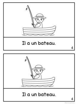 Le pêcheur et le poisson ~ French Fish & Fisherman Fable Reader ~Simplified