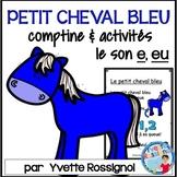 """Centres de littératie - Mots fréquents - Le son """"e"""" - Comptine - French Phonics"""