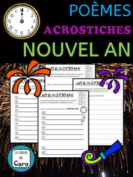 Le Poème Acrostiche Nouvel An 4 Fiches Imprimables French Fsl