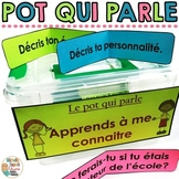 Le pot qui parle  (Communication orale) - French discussion prompts