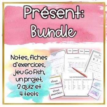 **BUNDLE** Le présent - Notes and Evaluations