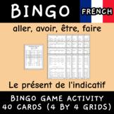 Le présent aller avoir être faire conjugation core French bingo 40 cards game