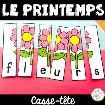 Le printemps - French Spring - 22 puzzles