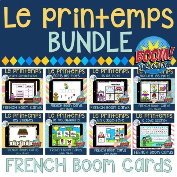 Le printemps:  French Spring Digital Task Cards BUNDLE - BOOM CARDS