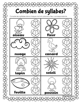 Le printemps // French Spring Literacy and Math