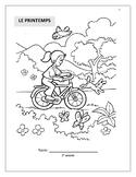 Le printemps SPRING vocab booklet