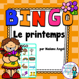 Printemps:  Spring Themed Bingo Game in French