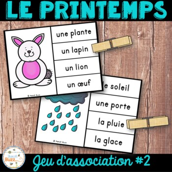 Printemps - jeu d'association #2 - French Spring Clip Cards